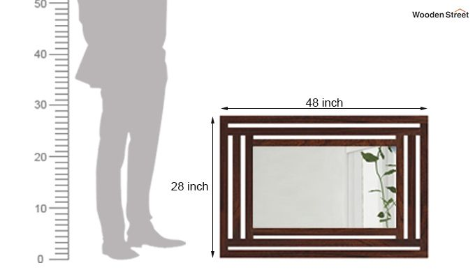Douglas Mirror With Frame (Walnut Finish)-3