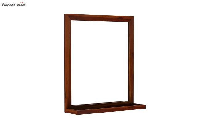 Elle Decor Mirror With Frame (Honey Finish)-2