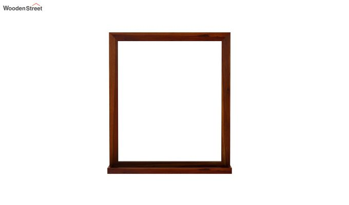 Elle Decor Mirror With Frame (Honey Finish)-3