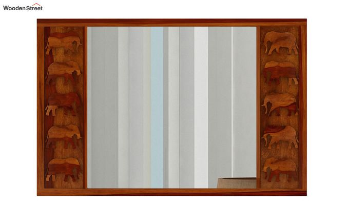 Emboss Mirror With Frame (Honey Finish)-2