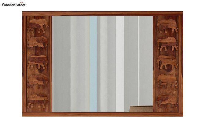 Emboss Mirror With Frame (Teak Finish)-2
