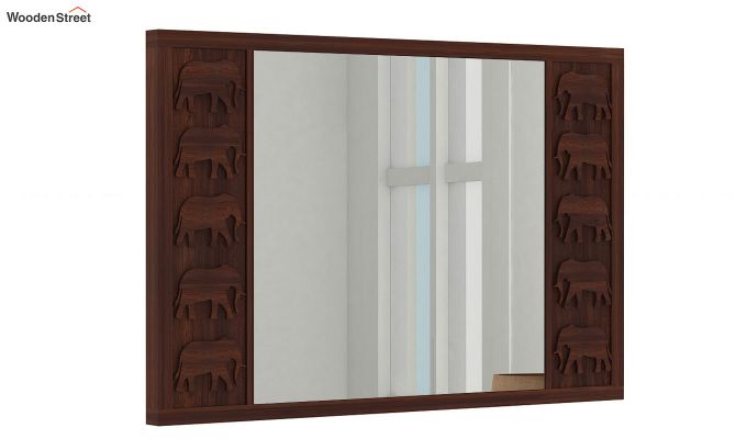 Emboss Mirror With Frame (Walnut Finish)-2