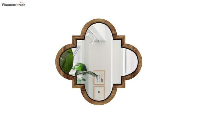 Fleur Decor Set Of 4 Mirror with Frame (Natural Finish)-3