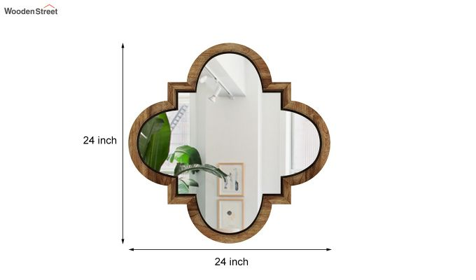 Fleur Decor Set Of 4 Mirror with Frame (Natural Finish)-4