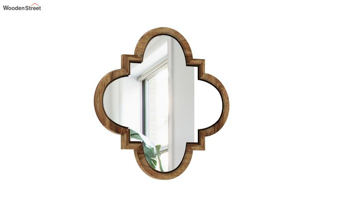 Fleur Decor Mirror with Frame (Natural Finish)-2