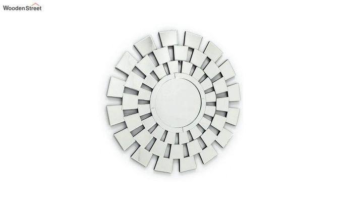 Glass Round Frame Decorative Wall Mirror-2