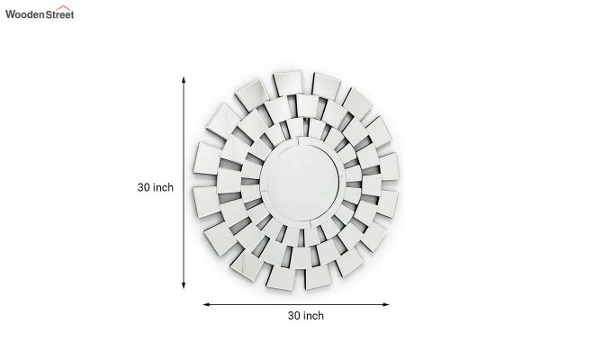 Glass Round Frame Decorative Wall Mirror-3