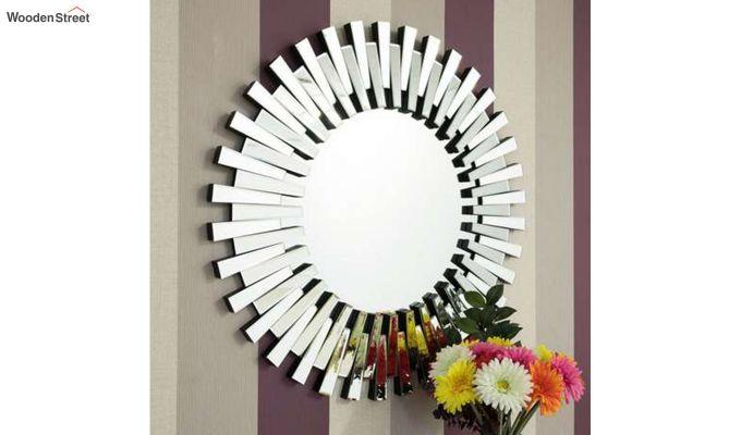 Glass Wall Mirror in Silver Colour-1