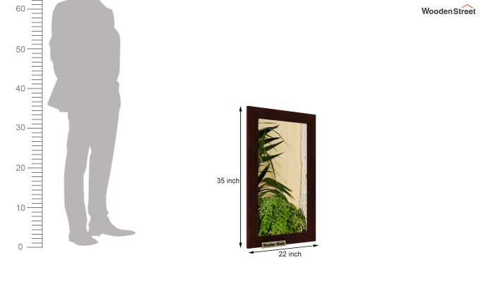 Groove Mirror With Frame (Walnut Finish)-4