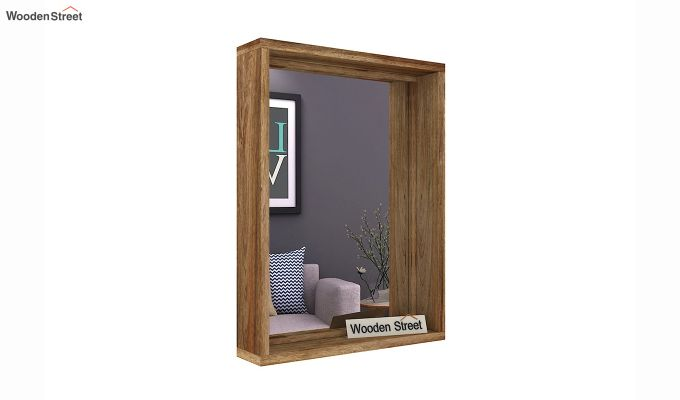Hedge Mirror With Frame (Natural Finish)-2
