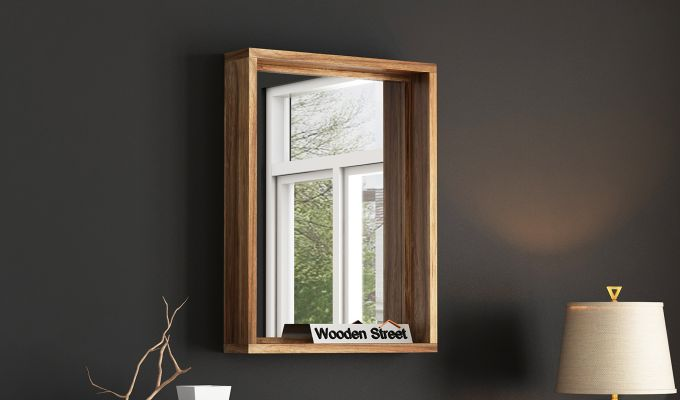 Hedge Mirror With Frame (Natural Finish)-1