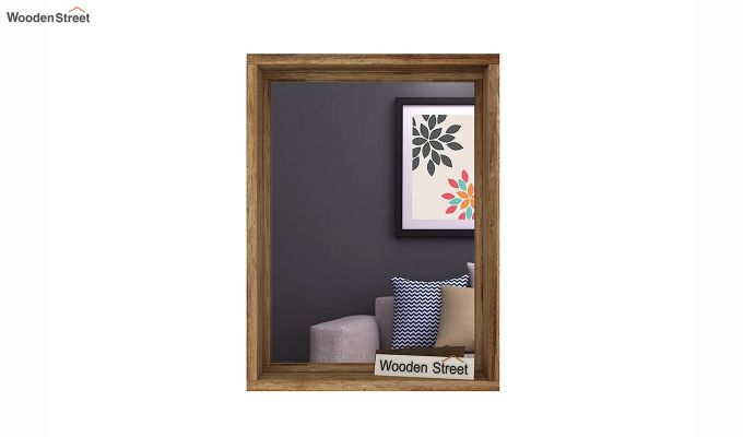 Hedge Mirror With Frame (Natural Finish)-3