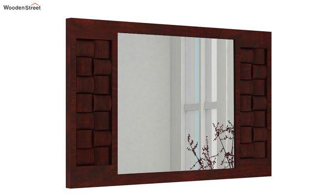 Howler Mirror With Frame (Mahogany Finish)-1