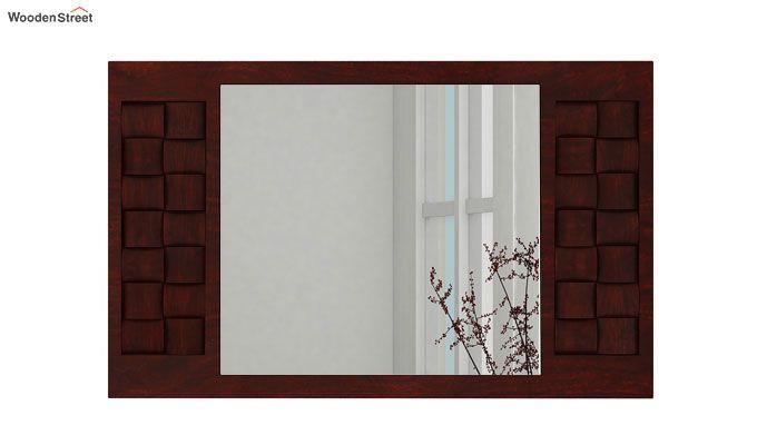 Howler Mirror With Frame (Mahogany Finish)-2