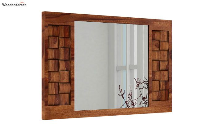 Howler Mirror With Frame (Teak Finish)-2