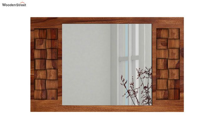 Howler Mirror With Frame (Teak Finish)-3