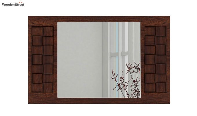 Howler Mirror With Frame (Walnut Finish)-2