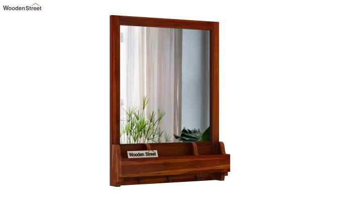 Kyra Mirror With Frame (Honey Finish)-2
