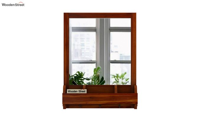 Kyra Mirror With Frame (Honey Finish)-3