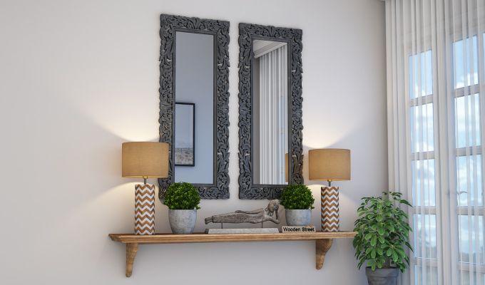 Meadow Mirror With Frame (Grey Distress)-1