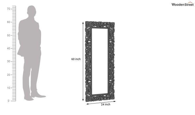 Meadow Mirror With Frame (Grey Distress)-4