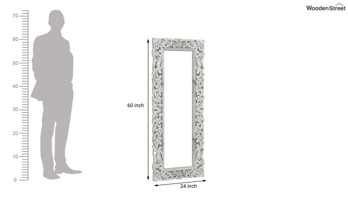 Meadow Mirror With Frame (White Distress)-4