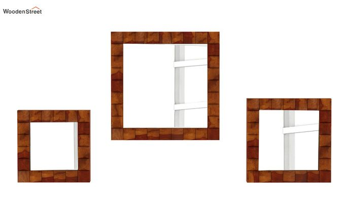 Morse Set Of 3 Mirror With Frame (Honey Finish)-3