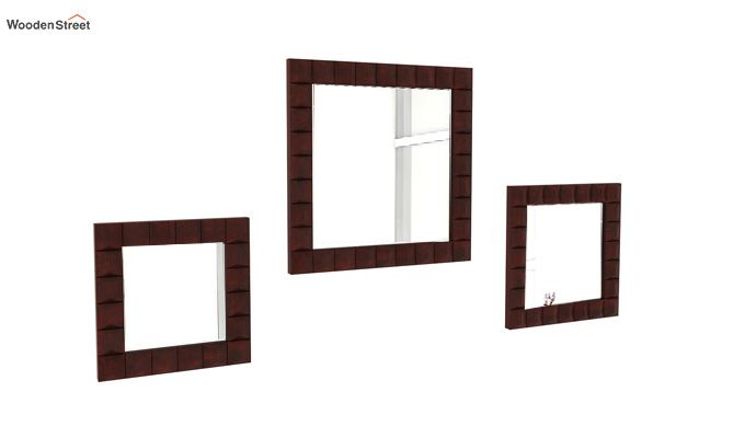 Morse Set Of 3 Mirror With Frame (Mahogany Finish)-1