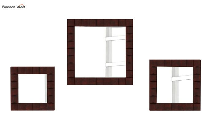 Morse Set Of 3 Mirror With Frame (Mahogany Finish)-2