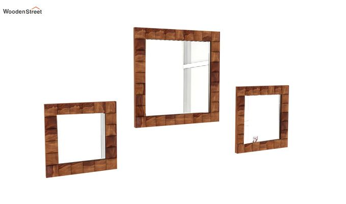 Morse Set Of 3 Mirror With Frame (Teak Finish)-1