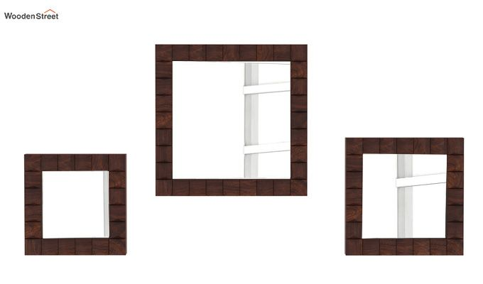 Morse Set Of 3 Mirror With Frame (Walnut Finish)-2