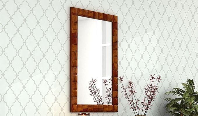 Morse Mirror With Frame (Honey Finish)-1