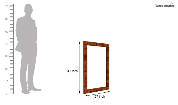 Morse Mirror With Frame (Honey Finish)-4