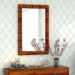 Morse Mirror With Frame (Honey Finish)