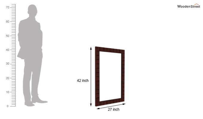 Morse Mirror With Frame (Mahogany Finish)-3