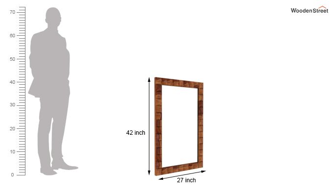 Morse Mirror With Frame (Teak Finish)-3