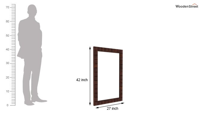 Morse Mirror With Frame (Walnut Finish)-3