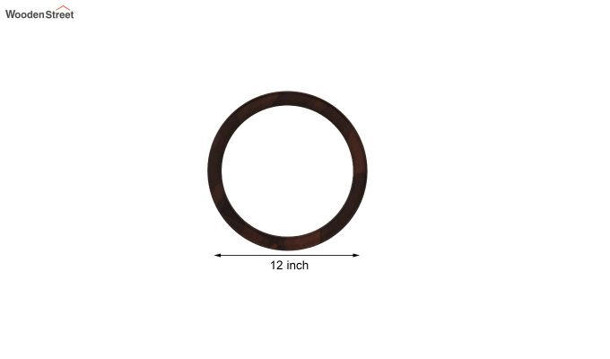 Olympus Set of 5 Round Mirror with Frame (Walnut Finish)-4