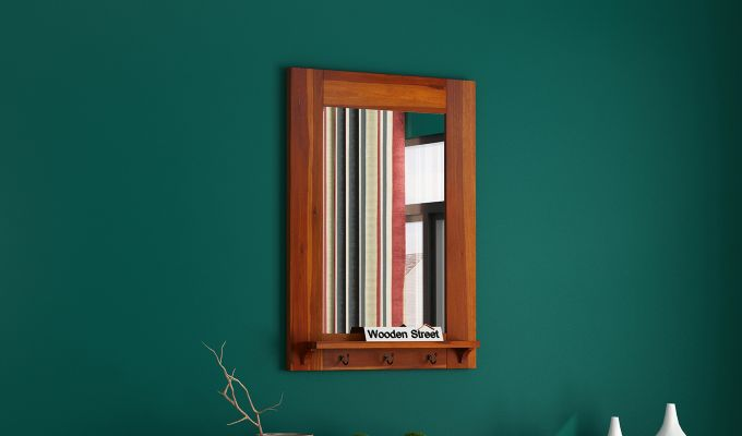 Panama Mirror With Frame (Honey Finish)-1