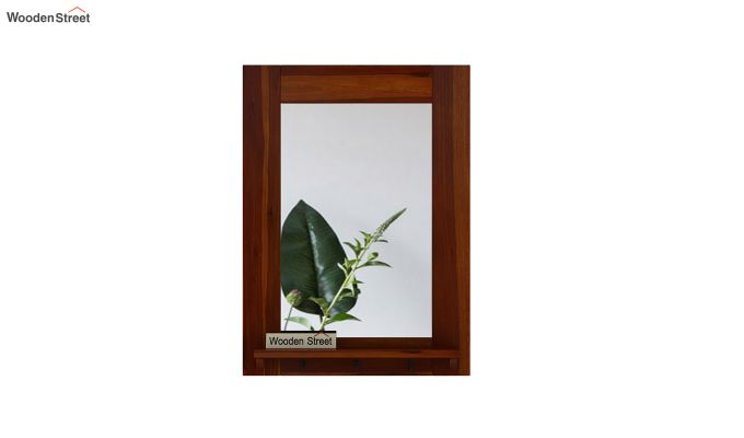 Panama Mirror With Frame (Honey Finish)-3