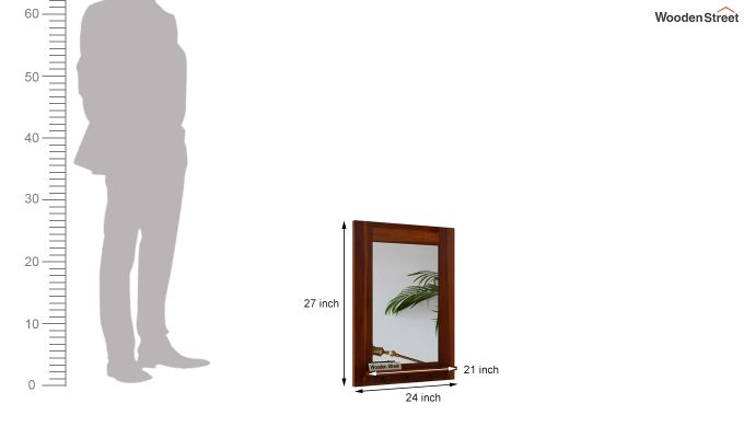 Panama Mirror With Frame (Honey Finish)-4