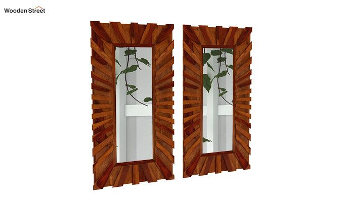 Persian Set Of 2 Mirror With Frame (Honey Finish)-1