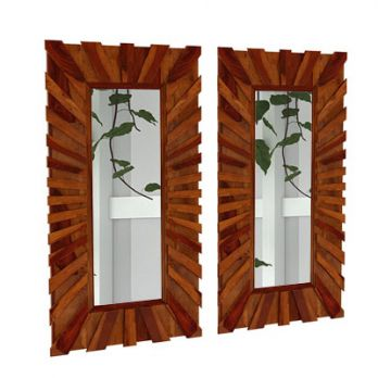 Persian Set Of 2 Mirror With Frame (Honey Finish)