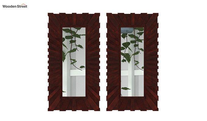 Persian Set Of 2 Mirror With Frame (Mahogany Finish)-2
