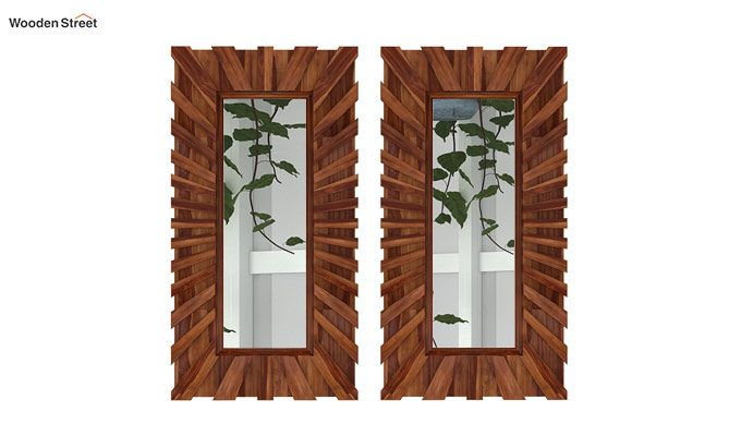 Persian Set Of 2 Mirror With Frame (Teak Finish)-2