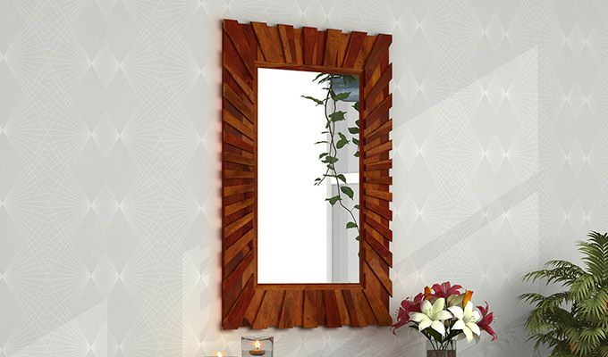 Persian Mirror With Frame (Honey Finish)-1