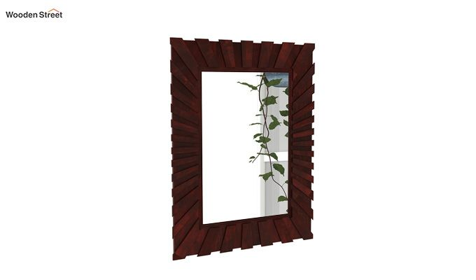 Persian Mirror With Frame (Mahogany Finish)-2