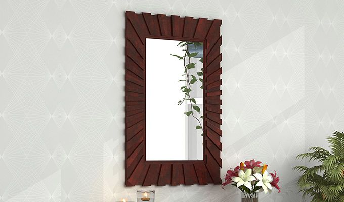 Persian Mirror With Frame (Mahogany Finish)-1