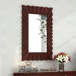Persian Mirror With Frame (Mahogany Finish)