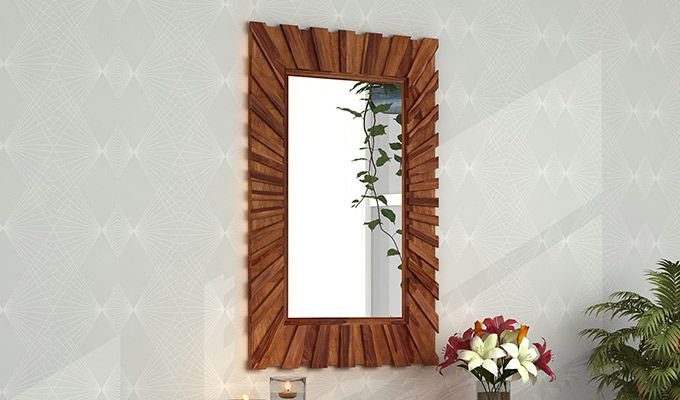 Persian Mirror With Frame (Teak Finish)-1